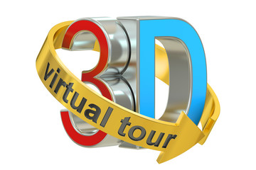 3D Virtual Tour concept. 3D rendering
