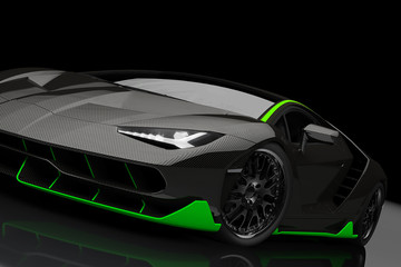 Supersport Auto Extrem im Studio
