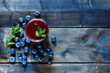 Juicy blueberry smoothie
