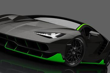 futuristisches Supersport Auto