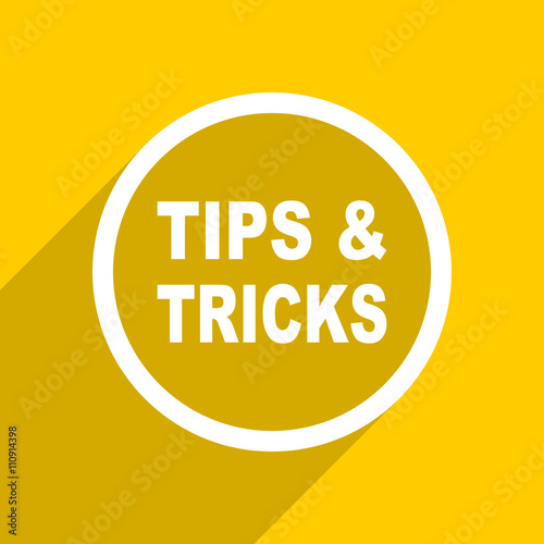 quot yellow flat design tips tricks modern web icon for mobile tips and tricks for product photography using iphone