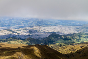 View of Quito from Rucu Pichincha volcano, Ecuador