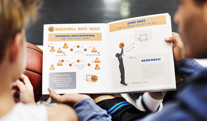 Basketball Sports Training Coaching Learning Concept