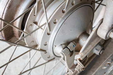 motorcycle back wheel and brake