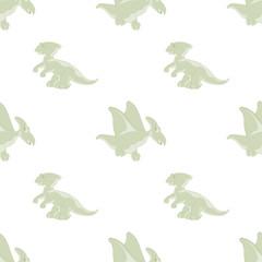 seamless pattern of cartoon Dino