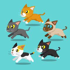 Cartoon cats running