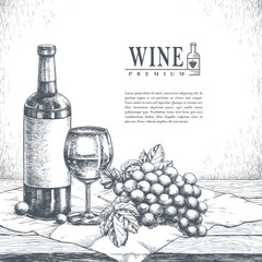 exquisite winery poster design