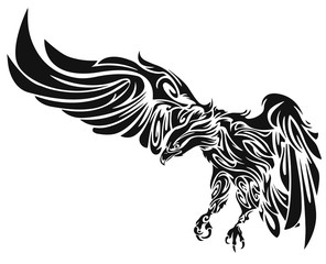 Tattoo of an eagle