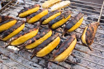 Banana grilled
