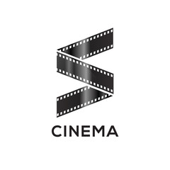 Abstract letter S logo for negative videotape film production