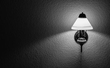 Wall lamp with shade