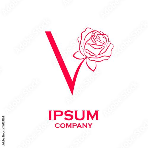 Letter v logorose flower red beauty and fashion logo stock image letter v logorose flower red beauty and fashion logo thecheapjerseys Gallery