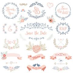 Rustic Wedding Design Set