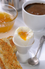 Boiled egg for breakfast