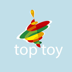 top toy sumbol color vector illustration