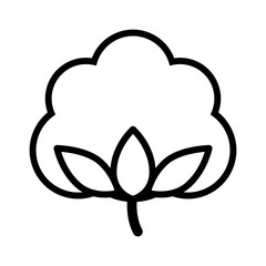 Cotton boll / flower line art icon for apps and websites