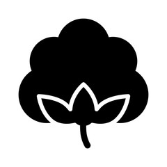 Cotton boll / flower flat icon for apps and websites