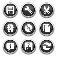 black basic application icons