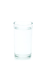 water glass isolated on white backgrnd