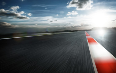 Wall Mural - Motion blurred racetrack,daytime mood