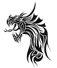 Black Tattoo Dragon