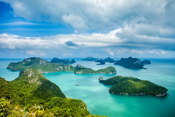 Tropical group of islands in Ang Thong National Marine Park.