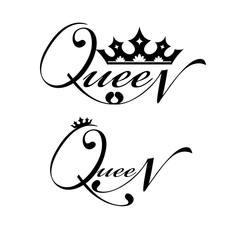 Logo with royal crown and lettering