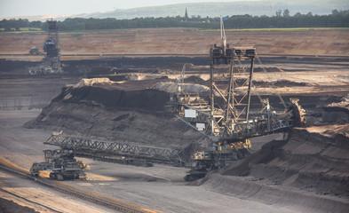 big open cast mining excavator