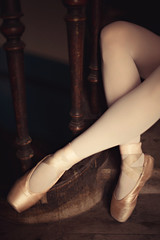 beautiful legs young active ballerina