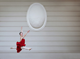 incredibly beautiful   ballerina spend time alone