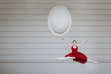 incredibly wonderful   ballerina spend time alone