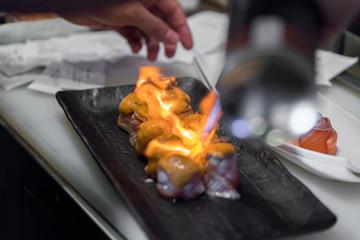 burn sushi