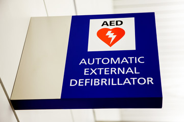 AED Automatic External Defibrillator Sign