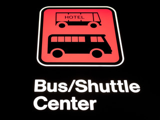 Hotel Bus Shuttle Sign