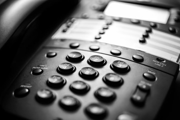 Black Business Telephone Close-Up