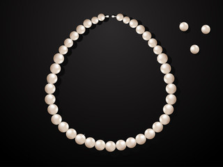 Illustration of pearl necklace