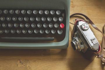 typewriter and photocamera