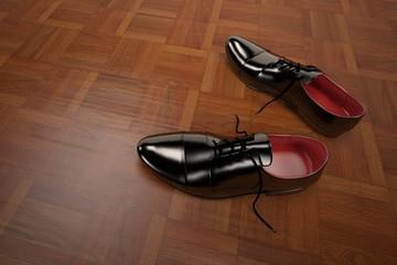 3D rendering formal shoes model