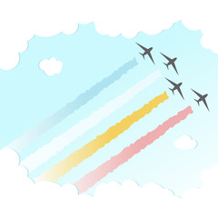 Parade Plane BackgroundJoy Peace Colourful Design Sky Vector Illustration