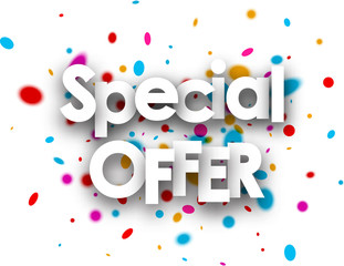 Special offer paper background.