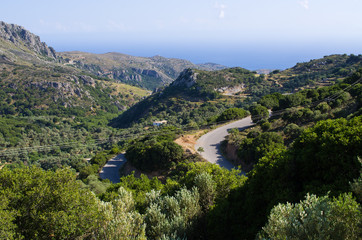 Hills on Crete island, Greece