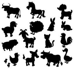Animals silhouette. Pets 2