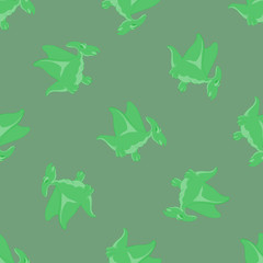 cartoon Dino seamless pattern
