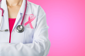 Cancer awareness medical stick ribbon for healthcare