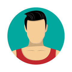 Man avatar icon of vector illustration for web and mobile