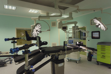 Operating room in modern clinic