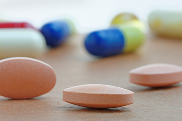 Statins or Generic Tablets  in Close Up