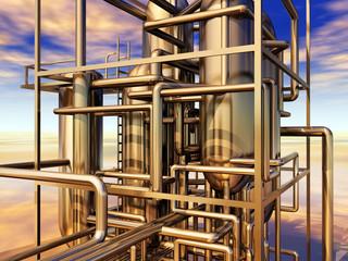 Erdölraffinerie
