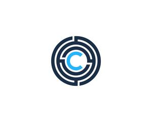 Letter C Maze Circle