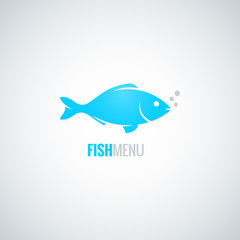 fish logo design vector background